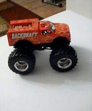Backdraft 1/64 Monster Jam Trucks Die Cast Hot Wheels Fire Back Draft
