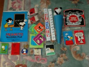 HUGE LOT VINTAGE PEANUTS COLLECTIBLES - Snoopy Red Baron Lucy Charlie Brown