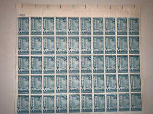 US Stamps SC# 1109 Mackinac Bridge 3c sheet of 50 MNH 1958