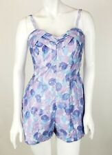 VTG NEW with Tags 50s Catalina Swimsuit 16/38 Bathing Suit Violet Pin-Up Romper
