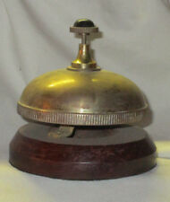 Bombay Wood & Brass Front Desk Service Bell