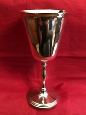 Vintage English Silver Plated Goblet Style Vase