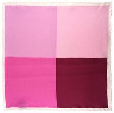 Multi Einstecktuch in rosa pink magenta beige gemustert - 100% Seide