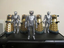 Doctor WHO Action Figure Lot Cybermen and Daleks