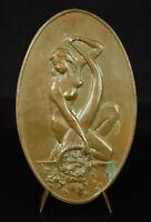 Medal Allegorie 1969 Fortune Wealth Lottery Womens Ladies Naked Woman Abundance