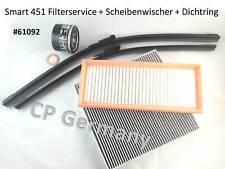Smart 451 Filter-Service + Scheibenwischer + Dichtring ( #61092 )