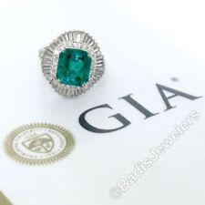 Joyería verdes de platino esmeralda