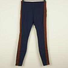 Athleta Track Tux Tight Side Striped Dark Blue High Rise Pants Womens Sz S