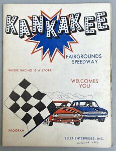 Old Original 1973 Race Program Kankakee Fairgrounds Speedway Illinois Very Rare