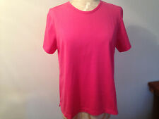 NEW LAND'S END Pink 100% Cotton Short Sleeve Tee Shirt Size M 10-12