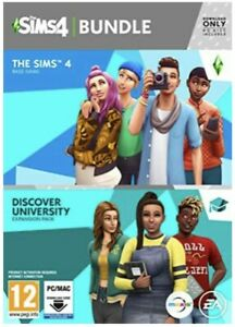 THE SIMS 4 Game + DISCOVER UNIVERSITY Expansion Pack (NEW SEALED) Bundle PC/MAC