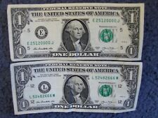 ONE DOLLAR FEDERAL RESERVE NOTES WITH THREE & FOUR-OF-A-KIND SERIAL NUMBERS!