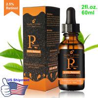 60ML Face 2.5% Retinol Serum Hyaluronic Acid Vitamin A E Aloe Vera Anti Aging