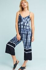 fd7cb307ae73 Anthropologie Cloth   Stone Women s Blue Tie-Dyed Oceana Jumpsuit Size PS