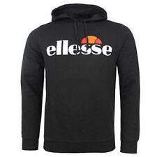 ellesse Bino Hooded Men's Sweatshirt ZIPPER Jacket Hood Jumper Hoodie XL Black