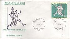 1066+ FDC ENVELOPPE 1er JOUR MALI  FOOT  JEUX OLYMPIQUES 1976