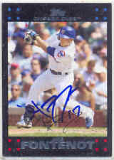 MIKE FONTENOT CHICAGO CUBS SIGNED CARD SAN FRANCISCO GIANT PHILADELPHIA PHILLIES