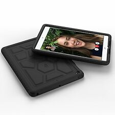Poetic TurtleSkin Heavy Duty Protection Silicone Case for iPad 9.7 Black