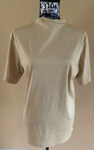 Addidas mens climalite Shirt Sz small tan, short sleeve