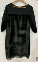 Sussan Black Dress Size 10, Velour/velvet Feel Dress, Great Cond. Party dress