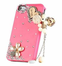Kolorfish Designer Elegant Diamond Charms Back Case For iPhone 4 4S--Hot Pink