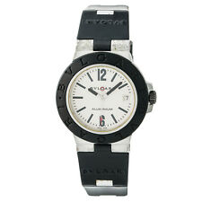 Bvlgari Diagano AL 38 A Mens Automatic Watch Cream Dial Rubber Band 38MM