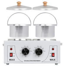 Pro Double Pot Wax Warmer Electric Heater Dual Hot Hair Removal Salon Equipment