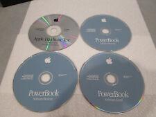 Apple Powerbook Software Install Restore Harware Diagnostic Test Lot of 4 Discs