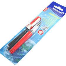 PELIKAN Pelikano Steel and Red Fountain Pen Medium