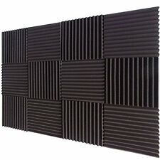 "12 Pack Acoustic Foam Studio Soundproofing Foam Wedges Wall Tiles 1"" X 12"" X 12"""
