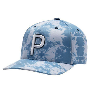 NEW Puma Rickie Fowler P 110 Haight Ibizza Blue Snapback Golf Hat/Cap
