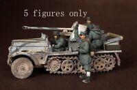 1/35 Resin WWII German German Armored Patrol Vehicle Team 5 Soldiers Kit NO CAR