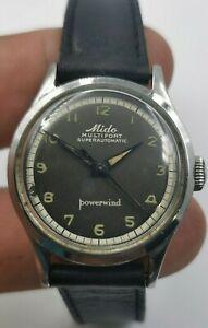 Vintage MIDO Super Automatic, Original Brown Dial,FB Borgel case,50s Minty watch