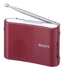ya07267 official Sony Handy Fm / Am Portable Radio Red Icf-51 / R Japan