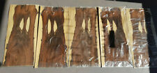 Brazilian Rosewood Veneer - 5 Bookmatched Sheets 610mm x 280mm Guitar/Furniture
