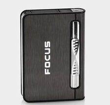 FOCUS Automatic Cigarette Case Dispenser with Built in Torch Lighter