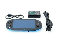 Sony PS Vita Blue Black Slim PCH-2000 Limited w/ Charger [Excellent +]