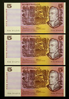 Australia 1985 Johnston Fraser OCRB $5 Banknote With 'C' - PIL