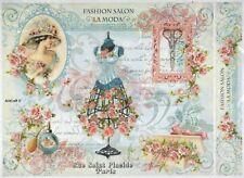 Carta di riso per Decoupage Scrapbook Craft sheet FASHION Salone la moda