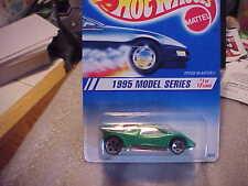 Hot Wheels 1995 Model Series #1 Speed Blaster Green with 5 Dot Wheels