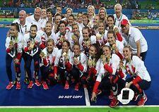 RIO 2016 WOMENS HOCKEY TEAM GB GOLD GREAT BRITAIN A4 GLOSSY PHOTO POSTER REPRINT