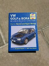 VW VOLKSWAGEN GOLF & BORA PETROL & DIESEL HAYNES SERVICE & REPAIR MANUAL 4169
