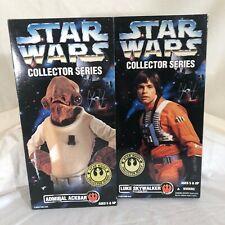 "Kenner Star Wars Collector Series 12"" Figures NIB - X WING LUKE & ACKBAR 1997"