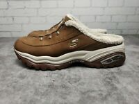 Skechers Sport Premium Clogs, Women's Shoes Brown w/Cream Faux Fur Lining - SZ 7