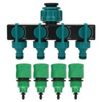 Répartiteur de robinet de tuyau de jardin à 4 voies avec raccord d'irrigation