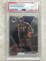 2019 Zion Williamson Panini Mosaic PSA GEM MT 10