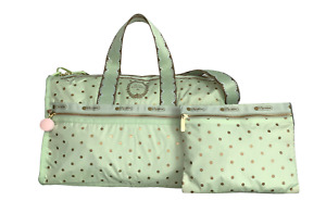 LeSportsac Les Secrets de Laduree Pois Pistache Large Weekender Bag Macaron Zip
