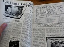 Build a 63 year old 300B Tube Amp! Use Western Electric or new ones! + 12AT7 AX7