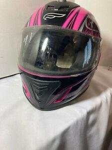 Fulmer Womens Motorcycle Helmet Large Pink