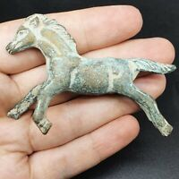 DETECTOR FINDS ANCIENT ROMAN BRONZE VERY OLD HORSE FIGURE